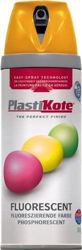 PlastiKote Fluorescent Spray Paint - Orange - 400ml
