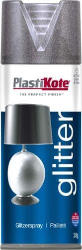 PlastiKote Glitter Spray Paint - 400ml Silver