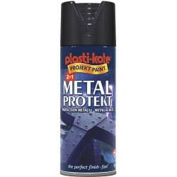 PlastiKote Metal Protekt Paint - 400ml Aerosol Gloss Black