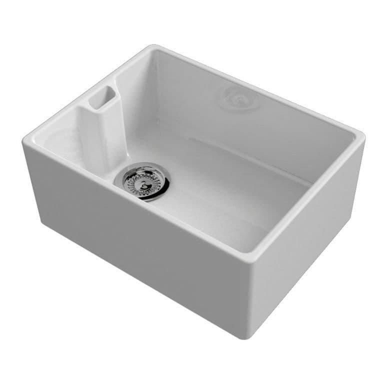 Reginox Belfast White Ceramic Sink Inc Waste - 595 x 460mm