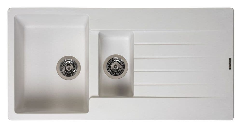 Reginox Harlem 1.5 Bowl Granite Sink - White - 100 x 50cm