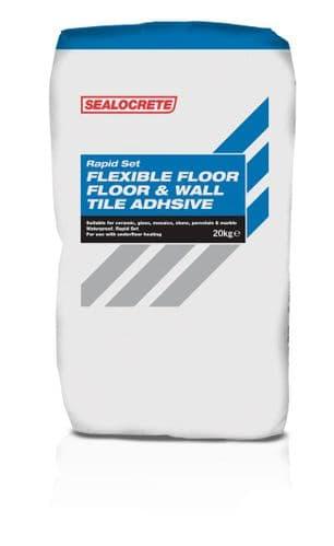 Sealocrete Flexible Rapid Set Floor & Wall Tile Adhesives 20kg