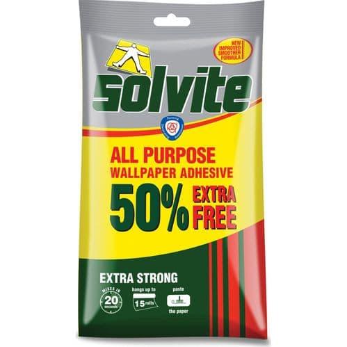 Solvite All Purpose Wallpaper Paste Value Pack 10 Roll + 50%