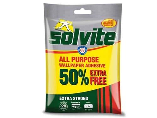 Solvite All Purpose Wallpaper Paste Value Pack 5 Roll + 50%
