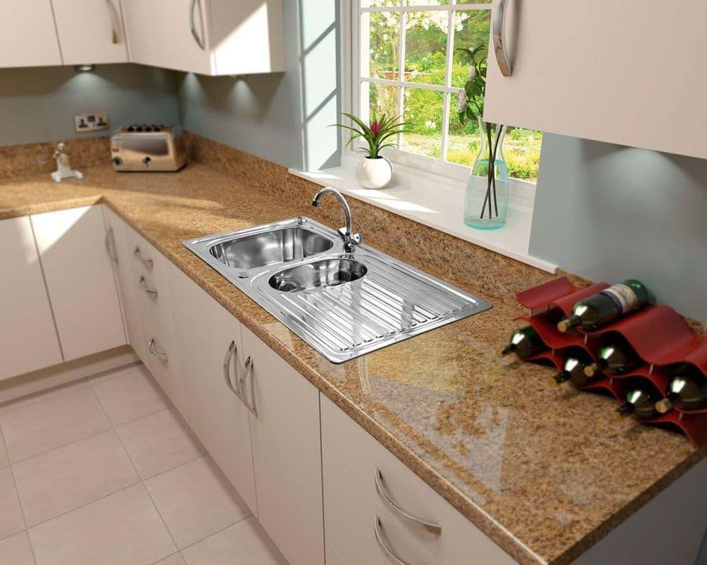 SupaPlumb Reversible 1.5 Bowl Sink - With Monoblock Tap