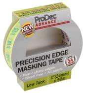ProDec Advance Precision Edge Masking Tape - 24mm x 50m Low Tack