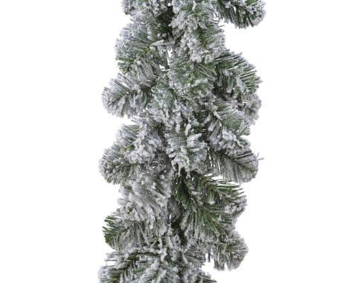 Ambassador Green/White Snowy Imperial Garland - 270 x 30cm