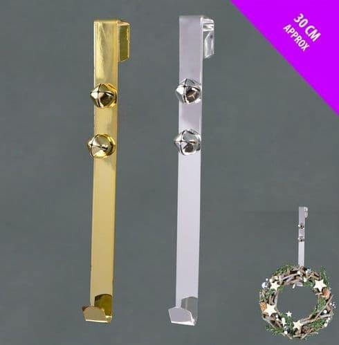 Davies Products Bell Door Wreath Hanger - Gold/Silver