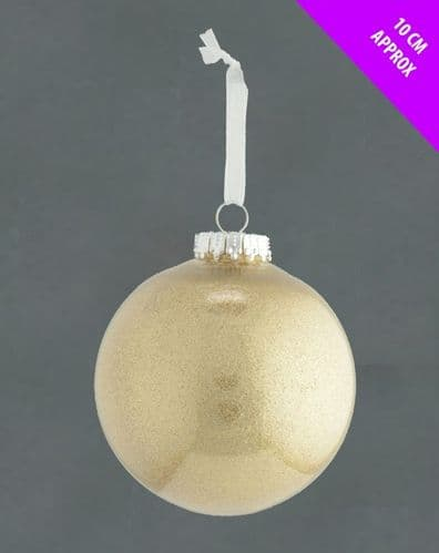 Davies Products Clear Lametta Bauble - 10cm Champagne