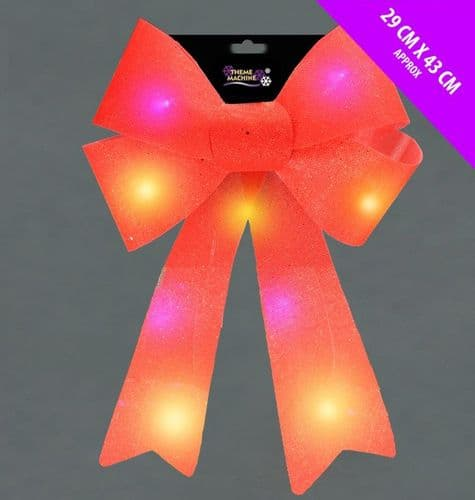 Davies Products Flash LED Bow - 29 x 43 Red