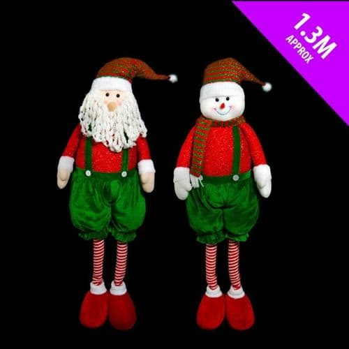 Davies Products Giant Santa Snow Greeter - 1.3m