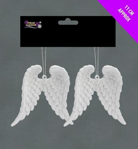 Davies Products Glitter Angel Wings - White Pack 2