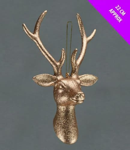 Davies Products Hanging Stags Head - 22cm Champagne