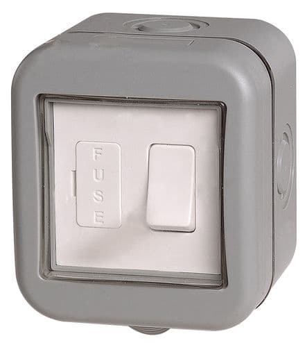 BG Weatherproof IP55 1 Gang Switched Fused Connection Unit