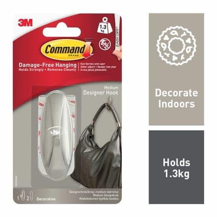 Command™ Decorative Hook - 1 hook, 2 medium strips