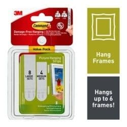 Command™ Picture Hanging Strips - Medium & Large