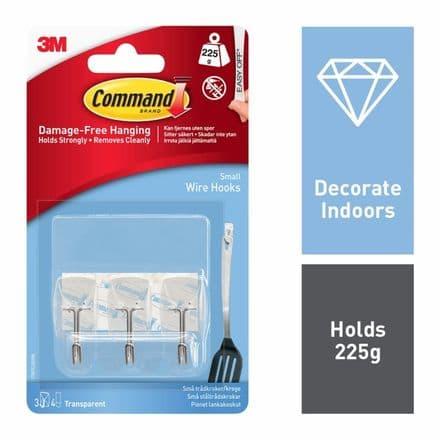 Command™ Utensil Hooks - 3 hooks, 4 small strips