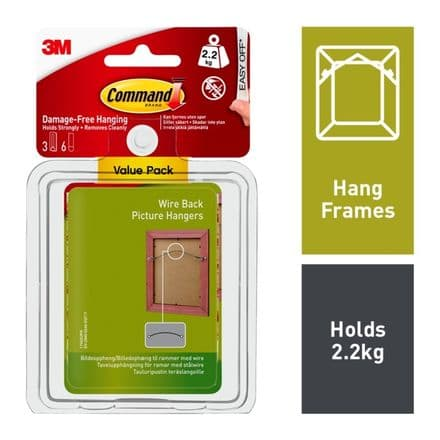 Command™ Wire Backed Picture Hang Hooks - Value Pack