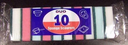 Duo Sponge Scourers - Pack 10