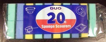 Duo Sponge Scourers - Pack 20