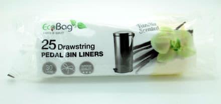 Ecobag Scented Drawstring Pedal Bin Liners - 30L
