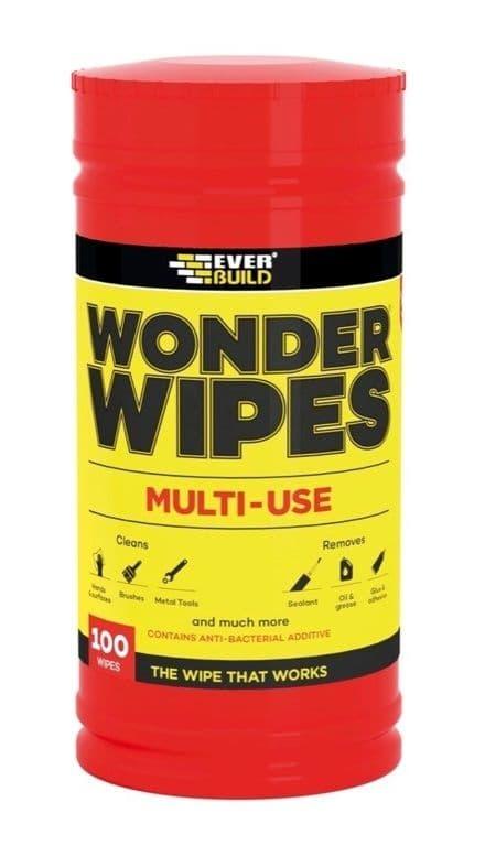 Everbuild Wonder Wipes - Tub Of 100