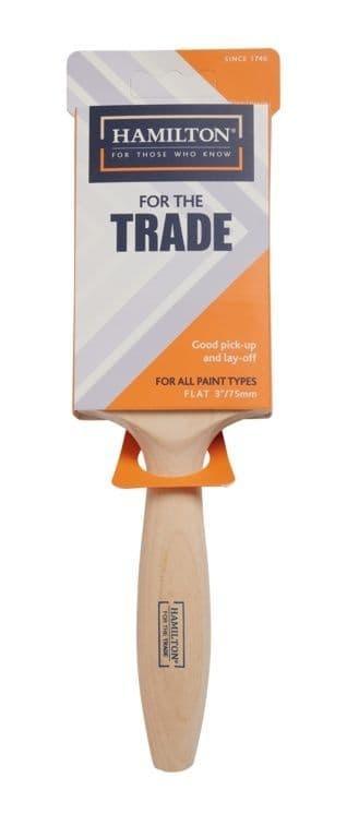 "Hamilton For The Trade Fine Tip Flat Brush - 3"""
