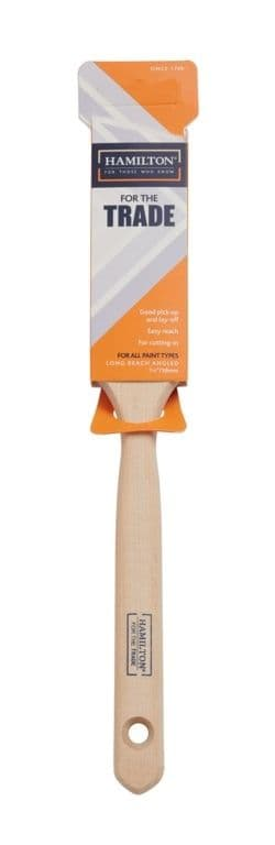 "Hamilton For The Trade Long Handled Angled Brush - 1.5"""