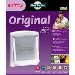 Petsafe Original 2 Way Medium Pet Door - White