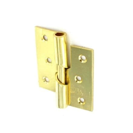 Securit Rising Butt Hinges RH Brass Plated (Pair) - 75mm