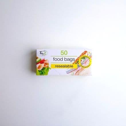 Tidyz Resealable Food Bags - Pack 50
