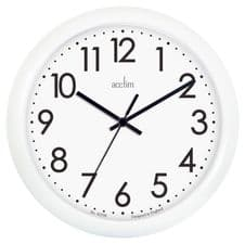 Acctim Abingdon Wall Clock - White 25.5cm
