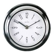 Acctim Riva Wall Clock Chrome - Chrome