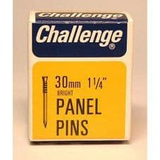 Challenge Panel Pins - Bright Steel (Box Pack) - 30mm