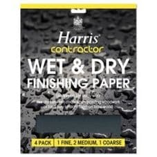 Harris Contractor Wet Dry Finishing Paper - Pack 4