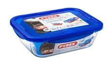 Pyrex Cook & Go Glass Rectangular Dish with Lid - 25x19cm