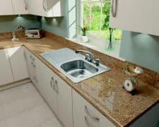 SupaPlumb 2 Tap Inset Sink - Left Hand Drainer