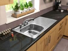 SupaPlumb 2 Tap Inset Sink - Right Hand Drainer