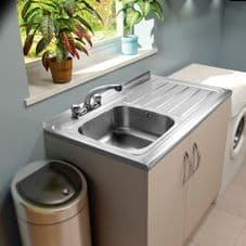 SupaPlumb 2 Tap Sit on Sink - Right Hand Drainer