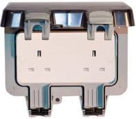 BG Weatherproof IP66 2 Gang 13A Unswitched Socket