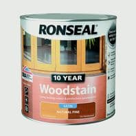 Ronseal 10 Year Woodstain Satin 2.5L - Natural Pine