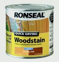 Ronseal Quick Drying Woodstain Satin 250ml - Natural Pine