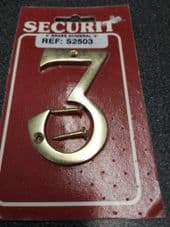 "3"" Brass Number 3"