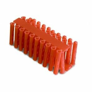 5 packs of 40 red wall plugs