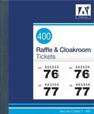 Anker Raffle & Cloakroom Tickets - Numbered 1 - 400