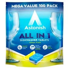 Astonish All In 1 Dishwasher Tablets - 100 Tabs