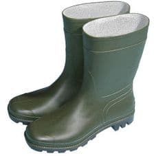 Town & Country Essentials Half Length Wellington Boots - Green - UK Size 3 - Euro Size 36