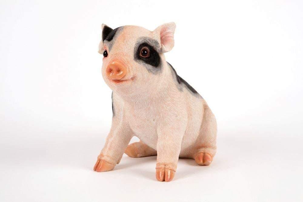 Outdoor Garden Patio Life Like Resin Sitting Piglet Pig Statue Figurine Ornament from Garden Creatio
