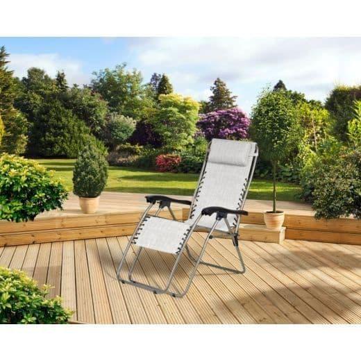 SupaGarden Oversize Zero Gravity Chair - Light Grey