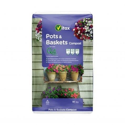 Vitax Pots & Baskets Compost - 56L